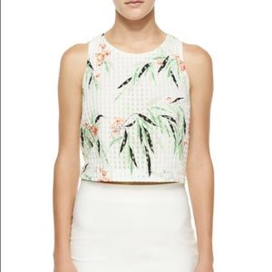 Elizabeth & James Floral Crop Top Size L NWOT